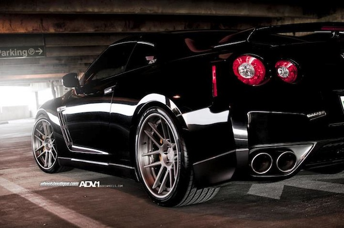 Nissan Gt R With Adv1 Adv6 0ts 21 With Pirelli 355 25 21