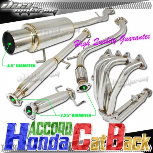 Dna motoring honda accord full exhaust 94 97 3 piece for Dna motoring exhaust civic