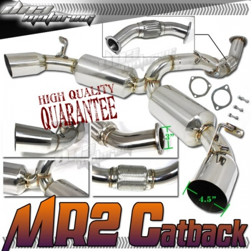 Dna motoring toyota mr2 turbo 3 exhaust 90 95 cbe mr2 for Dna motoring exhaust civic