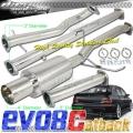 DNA Motoring Mitsubishi EVO 8/9 TurboBack Exhaust (03-08) TBE-MEVO8