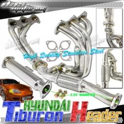 DNA Motoring Hyundai Tiburon Header [SE 2.7L V6] (03-07) HDS-HT03V6