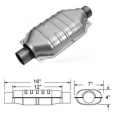"Magnaflow 93005D Catalytic Converter (2.25"" in/out - 12"" Body) Diesel Oval"
