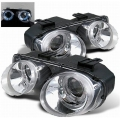 Spyder Acura Integra Projector Headlights (94-97) Halo Chrome