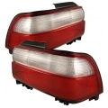 Spyder Toyota Corolla Tail lights (93-97) Red Clear Taillights