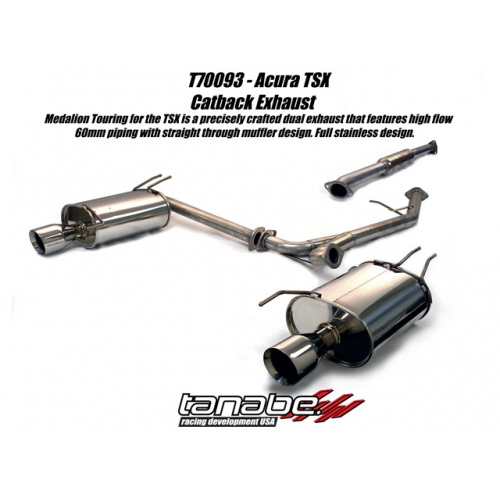 Tanabe Medalion Touring Acura TSX Exhaust T - Acura tsx exhaust