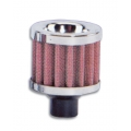 "Vibrant Crankcase Breather Filter w/ Chrome Cap - 1"" (25mm) Inlet I.D. 2168"