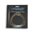 "Vibrant 3-bolt Stainless Steel Flange (2.25"" I.D.) - Single Flange 1481S"