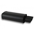 "Vibrant STREETPOWER FLAT BLACK Oval Muffler with Dual Tips (3"" inlet) 1149"