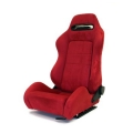 Yonaka Ronin Suede Racing Seat (synthetic) Black and Red YMRS007